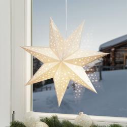 Markslöjd Hvězda Solvalla k zavěšení, 45 cm, zlatá