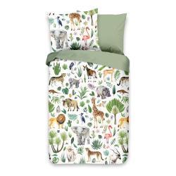 Dětské bavlněné povlečení Good Morning Džungle, 100 x 135 cm