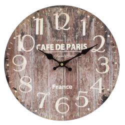 Dakls Nástěnné hodiny Wood hnědá, pr. 34 cm