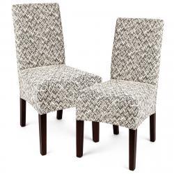 4Home Multielastický potah na židli Comfort Plus béžová 40 - 50 cm, sada 2 ks