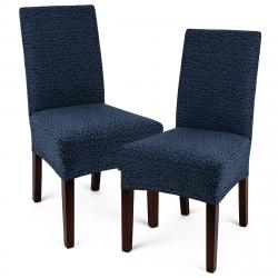 4Home Multielastický potah na židli Comfort Plus modrá, 40 - 50 cm, sada 2 ks