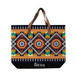 Plátěná taška s uchem z imitace kůže Madre Selva Camilo
