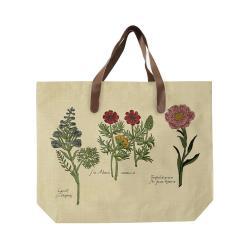 Plátěná taška s uchem z imitace kůže Surdic Flowers