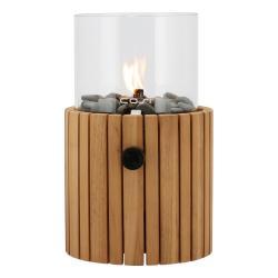 Plynová lampa z týkového dřeva Cosi Scoop Timber, výška 30 cm