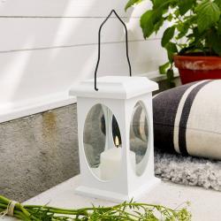 Best Season Flamme dekorativní svítidlo ve tvaru lucerny, bílé