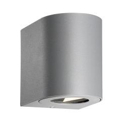 Nordlux LED venkovní nástěnné světlo Canto 2, 10 cm, šedá