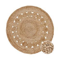 ALL NATURE Konopný koberec s děrovaným vzorem - přírodní