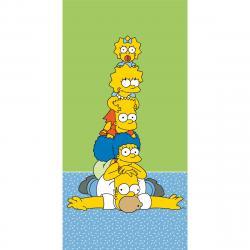 Jerry Fabrics Osuška The Simpsons family tower, 70 x 140 cm