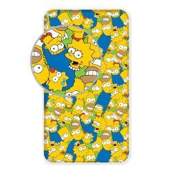 Jerry Fabrics Dětské bavlněné prostěradlo Simpsons family, 90 x 200 cm