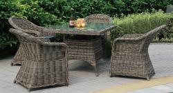 Ratanový jídelní stůl RICHMOND 90x90 cm