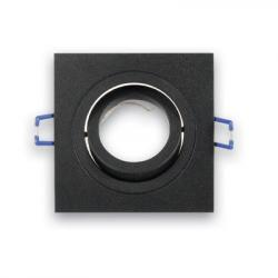 Fabas luce 6649-00-060 Davis, hranatá bodovka z hliníku v černé úpravě, max 1x50W, 9,2x9,2cm