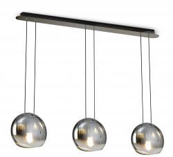 Mantra 6189 Lens závěsné svítidlo z grafitového skla, 3x20W E14 , délka 111cm
