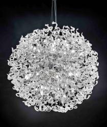Metallux 206.615.02 Astro White, designové závěsné svítidlo v průměru 170cm, 60x40W, bílé sklo, chrom