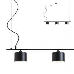 Redo Group 01-1551 Miler, černé závěsné svítidlo v severském stylu, 3x42W E27, délka 110cm
