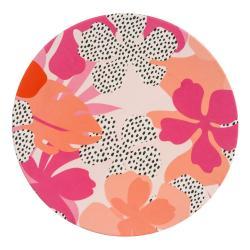 Růžovo-oranžový piknikový talíř Navigate Bamboo