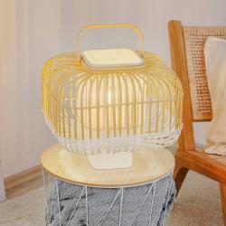 Forestier Forestier Bamboo Square S stolní lampa, bílá