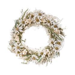 FLOWER MARKET Věnec ze sušených květin 25 cm - bílá