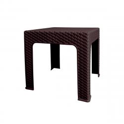 Zahradní stolek Bistro Ratan, 42 x 48 x 48 cm, wenge