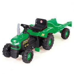 Dolu Dětský traktor šlapací s vlečkou, zelená