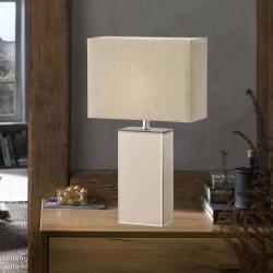 FISCHER & HONSEL Stolní lampa Bert se skleněnou nohou, výška 51 cm