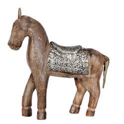 Clayre & Eef Dřevěný Kůň  - 24*3*21 cm