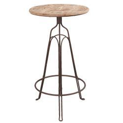 Clayre & Eef Barový bistro stolek Paris - Ø 60*107 cm