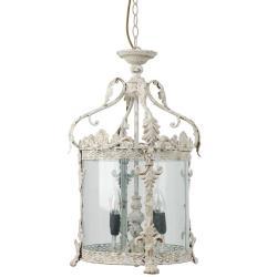 Clayre & Eef Vintage lustr lucerna s patinou na 4 žárovky - Ø 32*132 cm