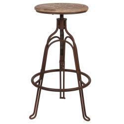 Clayre & Eef Kovová vytáčecí stolička Bistro - Ø 35*60 cm
