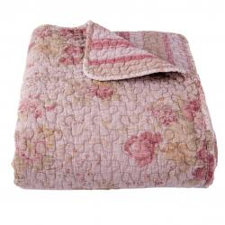 Clayre & Eef Vintage přehoz na dvoulůžkové postele Quilt 182 pink - 260*260cm