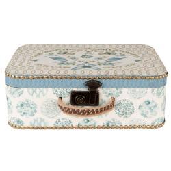 Clayre & Eef Dřevěný kufr s ptáčky - 43*15*31 cm
