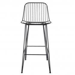 Clayre & Eef Kovová barová stolička - 40*44*90 cm