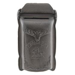 Clayre & Eef Litinová hnědá poštovní retro schránka - 18*6*32 cm