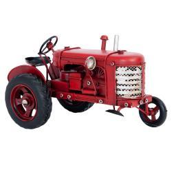 Clayre & Eef Kovový model traktoru v retro stylu - 17*9*10 cm
