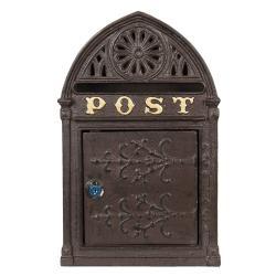 Clayre & Eef Hnědá poštovní schránka Post - 22*9*35 cm