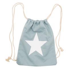 Clayre & Eef Pastelově zeleno-modrý vak na záda Star - 30*40 cm