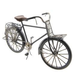 Clayre & Eef Kovový retro model bicyklu s nosiči - 29*17*11 cm