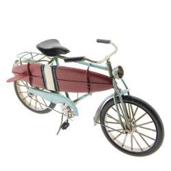 Clayre & Eef Kovový retro model jízdního kola se surfem - 29*15*9 cm