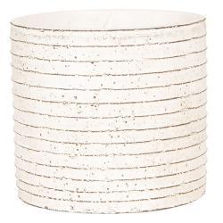 Clayre & Eef Květináč betonový s linkami - Ø 14*13 cm