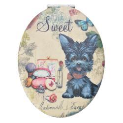 Clayre & Eef Příruční zrcátko s pejskem Sweet - 9*7 cm