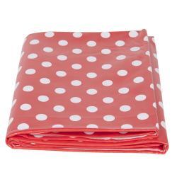 Clayre & Eef Červený puntíkovaný plastový ubrus - 137*180 cm