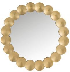 J-Line by Jolipa Kulaté zrcadlo se zlatým rámem Gold circles - Ø 90*4cm