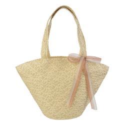 Clayre & Eef Plážová taška s mašlí - 48*31 cm