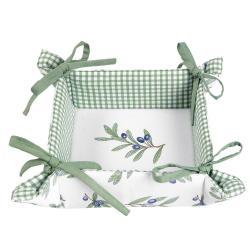 Clayre & Eef Bavlněný košíček na pečivo Olive Garden - 35*35*8 cm