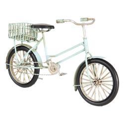Clayre & Eef Kovový retro model mintového kola s košíkem - 23*7*13 cm