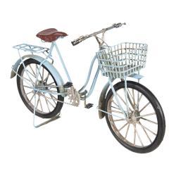 Clayre & Eef Kovový retro model modrého jízdního kola - 30*10*17 cm