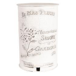 Clayre & Eef Vintage odpadkový koš Le Mas Fleuri - 29*35*45 cm