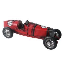 Clayre & Eef Kovový retro model auta Červená bugatka - 32*13*11 cm