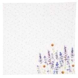 Clayre & Eef Textilní ubrousky Lavander Fields - 40*40 cm - 6ks