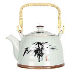 Clayre & Eef Konvička na čaj s motivem bambusu - 18*14*12 cm / 0,8L