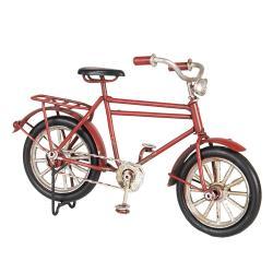 Clayre & Eef Malý kovový model červeného kola - 16*5*10 cm